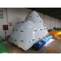 Quality 2 Sides Climbing Inflatable Floating Iceberg For Hotel Or Family Pool wholesale