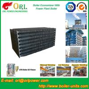 Quality Power Plant CFB Boiler Economizer Tubes / Economizer Heat Exchanger wholesale