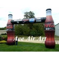 Quality custom printed advertising door arch inflatable bottle arch for promotion wholesale