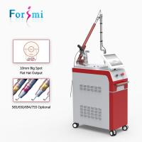 Buy cheap Epidermal and dermal pigment removal Q-switch Nd yag laser 1064nm/532nm 2017 from wholesalers
