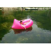 Buy cheap Nylon Ripstop Swimming Inflatable Sleeping Bag / Laybag With Logo Printed 1.4kg product