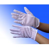 Quality white PVC dotted ESD anti static cleanroom gloves wholesale