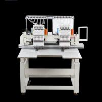Quality Professional Cap / T - Shirt Double Head Embroidery Machine With 2 Years Warranty wholesale