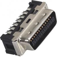 Quality 1.27mm Computer Pin Connectors Male DIP SCSI Connector LCP 30%GF UL94V-0 Gold Flash/Sn wholesale