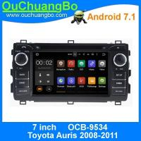 Quality Ouchuangbo car radio multimedia android 7.1 Toyota Auris 2008-2011 with gps navi DDR3 2GB bluetooth music wholesale