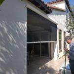 China Powder Coated Aluminium Frame Motorized pet mesh screen for Terrace for sale