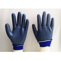 China Foam Eva Latex Dipped Gloves , Latex Rubber Gloves Breathable Knitting on sale