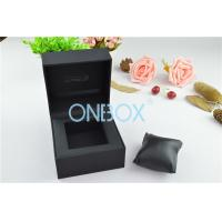 Quality Single Men'S Watch Display Luxury Watch Box Fine Black Touch Paper With Soft Pillow wholesale