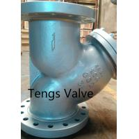 Quality API Cast Carbon Stainless Steel CLASS 300LBS Double Flanged RF Y Type Strainer wholesale
