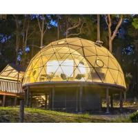 Quality Diameter 6M Half Sphere Geodesic Dome Tent For Warehouse With PVC Fabric Cover wholesale