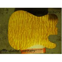 China custom unfinished qulited maple telecaster guitar kits guitar body on sale