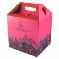 Quality Printed Wine Carrier, Made of High Performing Paper wholesale
