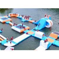 China Largest Indoor Outdoor  Island Water Park For Family , Beach Waterpark Floating Obstacle on sale