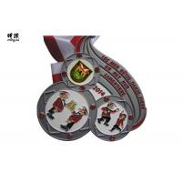 Quality Big Size Heavy Crystal Custom Award Medals With Soft Enamel , Sandy Back Surface wholesale