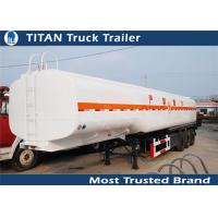 Cheap 3 Axles petrol / palm oil / diesel tank trailer 45000 liters with 1 - 7 compartments for sale