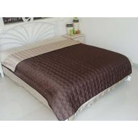 Quality Choc Pinched Velvet Trim Throw wholesale