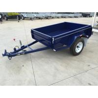 Buy cheap 6x4 Tandem Box Trailer Single Axle Utility Trailer 750KG With Mudguards Checker Plate from wholesalers