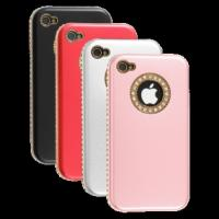 Quality Fashion Sheep Pattern Rhinestone Case for iPhone 4 4S wholesale