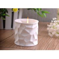 Quality Elegant 290ml white ceramic candle holder For Home Decoration wholesale