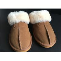 Cheap Ladies Countess Sheepskin Slippers Chestnut Deluxe Ladies Sheepskin slipper for sale