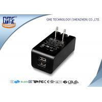 China Dual Port 5v 2a Wall Mount Charger Ac Dc Switching Adapter Black Color on sale