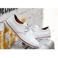 Fashion Cowhide Leather Lace Up Shoes , Comfortable Business Casual Shoes Men