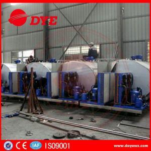 Quality Sus304 1000 Liter Milk Cooling Tank Refrigeration Compressor ISO9001 wholesale
