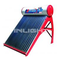 Buy cheap 80L low pressure color steel  vacuum tube solar water heater for small family use product
