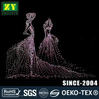 Quality Multi - Colors Rhinestone Decals / Wear - Resistant Hotfix Patterns wholesale