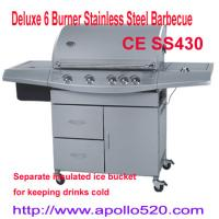 China Deluxe 6 Burner Stainless Steel Barbecue on sale