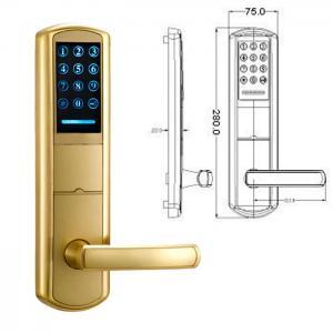 Quality High Security Zinc Alloy Door Handle Lock Smart Key Password intelligent Door Lock wholesale