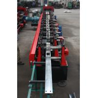 Quality Customized C Z Purlin Roll Forming Machine , Electric Fully Automatic PLC  Control Export Macedonia wholesale