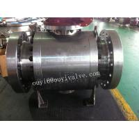 China 10 Inch LF2 Forged Steel Ball Valve 600LB Flanged Trunnion Mounted on sale