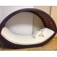 Removable Canopy Sofa Rattan Outdoor Furnitures / Garden Lounge Rattan