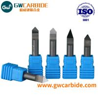 Cheap PCD Engraving / Carving Tool Cnc End Mill For Stone And Marble Solid Carbide for sale