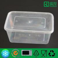 Quality Rectangular Microwaveable disposable plastic takeaway food box 1000ml wholesale