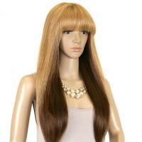 China Darker Blonde Synthetic Hair Wigs Silky Straight 8inch - 36inch on sale