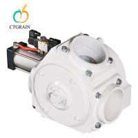 Quality Automatical 3 Way Industrial Diverter Valve With Actuator 200 T/ H Capacity wholesale