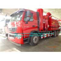 Quality Sinotruck 8000L Combination Sewer Cleaning Truck With Vacuum Suction System wholesale