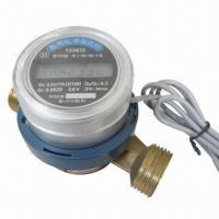 China Electronic Water Meter with Pulse Output, Made of Brass on sale