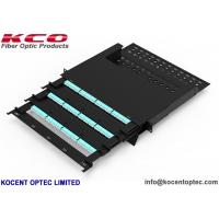 Quality Slide Type 144 Core MPO Patch Panel Rack Mount Terminal Box 19'' Customized Length wholesale