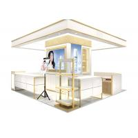 Quality Easy Install Wooden Cosmetic Display Case With Multi Color LED Lighting wholesale