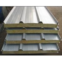 Quality Rockwool Insulated Sandwich Panel Roofing Fire Resistant For Prefab Houses wholesale