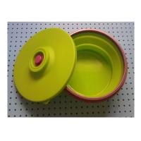 Quality large silicone lunch box collapsible ,fashionable silicone partable lunch bowl wholesale