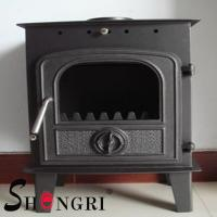Cheap 6KW wood casting iron stoves forest paint surface for sale