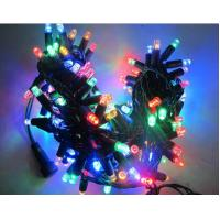Quality Hot  sale 110v 120v 100led RGB twinkle Christmas string lights 10m flashing with controller wholesale