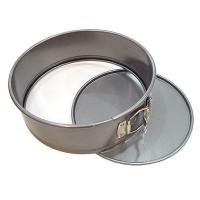 Quality Tart Quiche Cheese Cake Pan / Springform Baking Pan With Silver And Black Color wholesale
