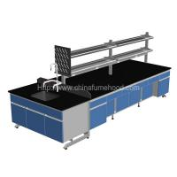 Quality 3000x1500x850mm Lab Island Bench With Adjustable Footing Wooden Cabinets wholesale