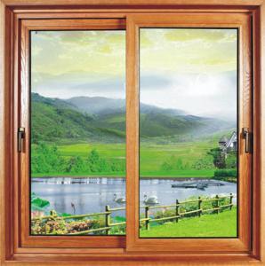 Quality Kitchen Household Sliding Sash Window Powder Coating /  Reflective Glass Double Slider Window wholesale