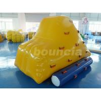 Quality 0.9mm PVC Tarpaulin Inflatable Iceberg With 2 Sides Climbing For Pool wholesale